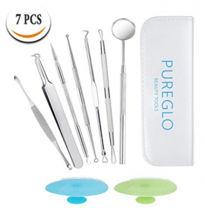 PureGLO 7 Pieces Pimple Popper and Acne Removal Tool